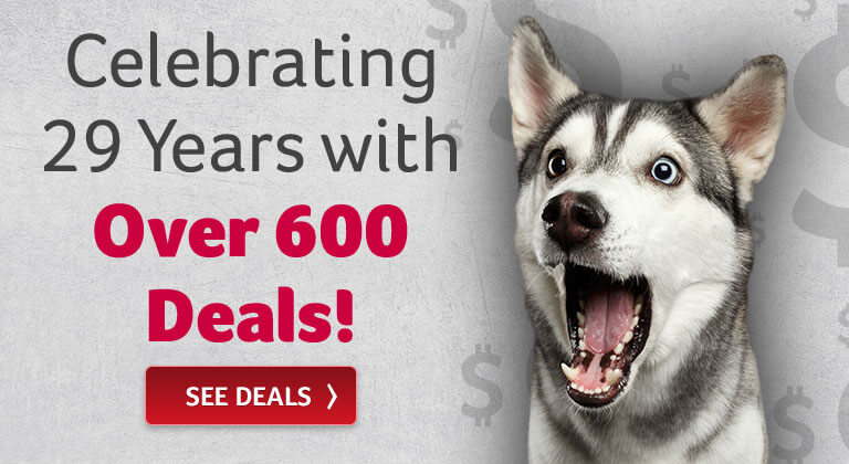 Celebrating 29 Years with Over 600 Deals!
